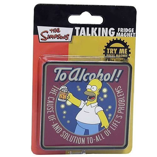 Simpsons To Alchohol Homer Simpson Talking Magnet