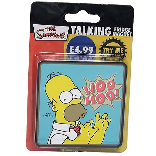 Simpsons Woo Hoo Homer Simpson Talking Magnet