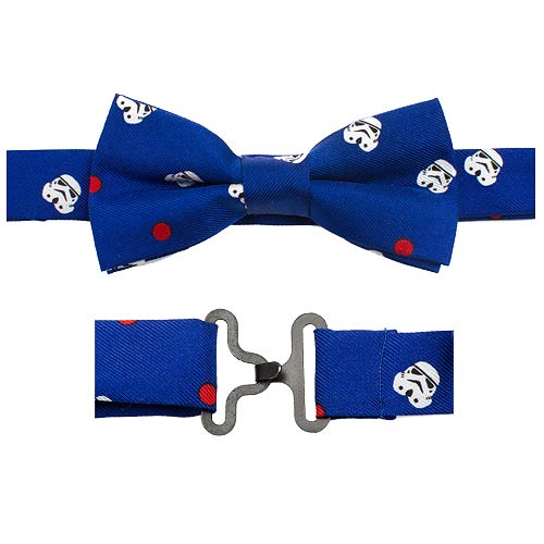 Star Wars Stormtrooper Dot Blue Boys Silk Clip-On Bowtie