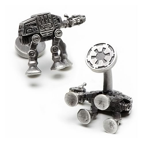 Star Wars AT-AT Walker 3-D Antique Palladium Cufflinks