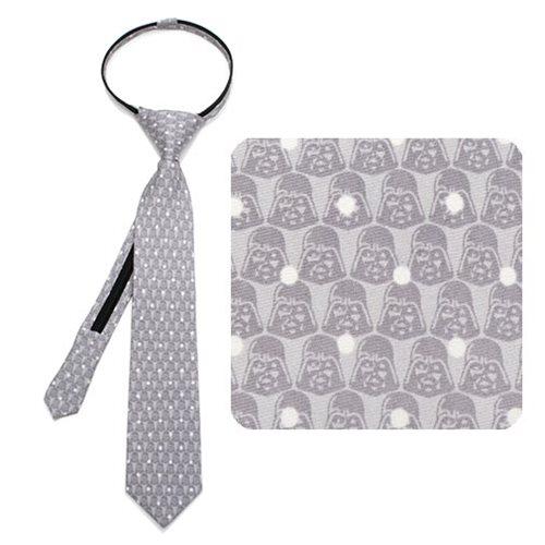Star Wars Darth Vader Dot Gray Boys Zipper Silk Tie