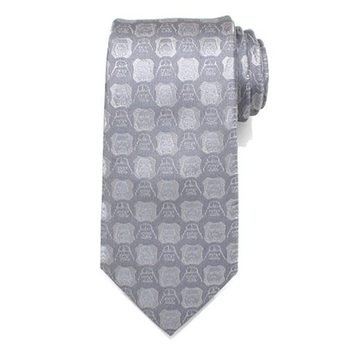 Star Wars Darth Vader And Stormtrooper Grey Mens Silk Tie