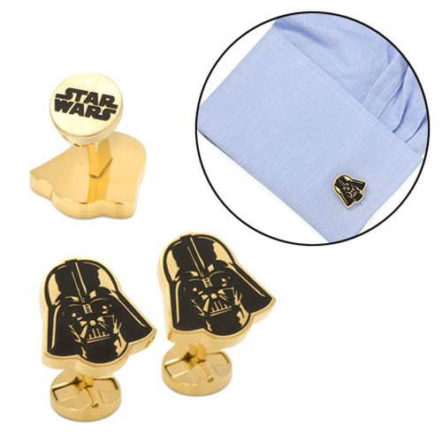 Star Wars Darth Vader Black and Gold Cufflinks