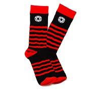 Star Wars Red Striped Imperial Logo Black Socks