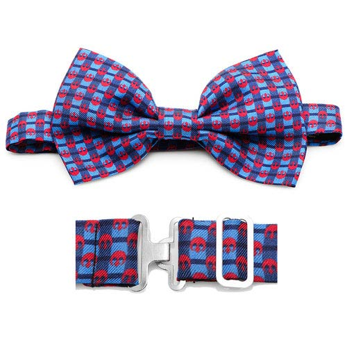 Star Wars Rebel Alliance Navy Plaid Italian Silk Bowtie