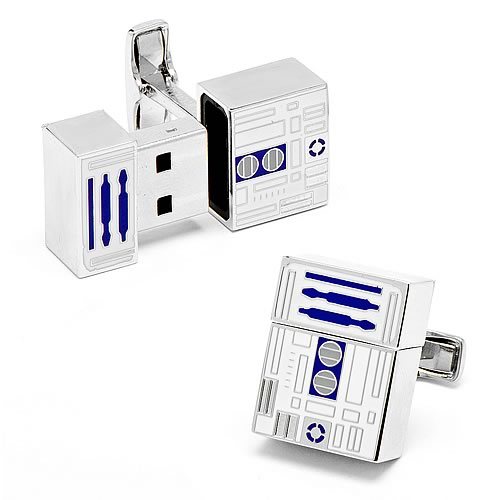 Star Wars R2-D2 4 GB USB Flash Drive Cufflinks