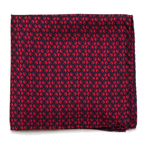 Star Wars Rebel Alliance Navy and Red Silk Pocket Square