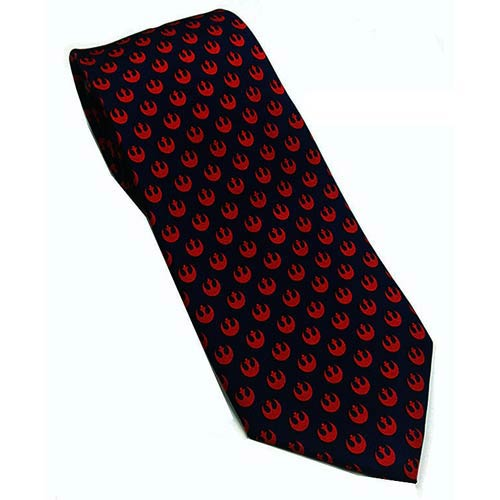 Star Wars Rebel Alliance Navy and Red Silk Skinny Tie