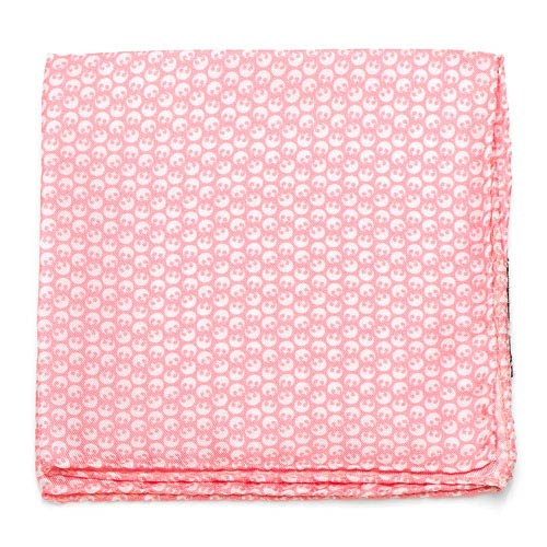 Star Wars Rebel Alliance Pink and White Silk Pocket Square
