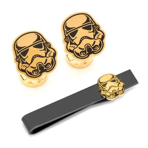 Star Wars Stormtrooper Cufflinks and Tie Bar Set
