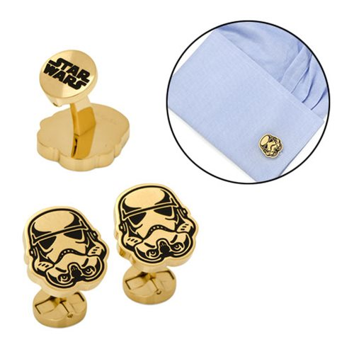 Star Wars Stormtrooper Black and Gold Cufflinks