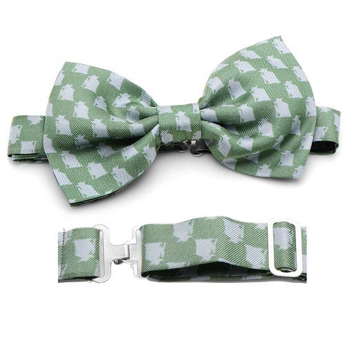 Star Wars Yoda Pattern Green Italian Silk Bowtie