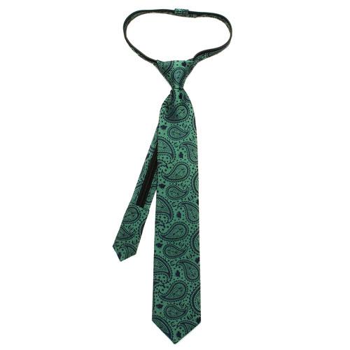 Star Wars Yoda Paisley Boys Zipper Silk Tie
