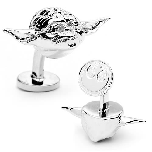 Star Wars 3-D Yoda Head Cufflinks