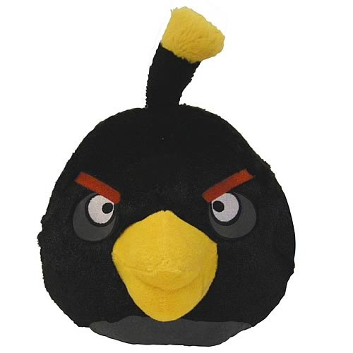 Angry Birds Black Bird 16-Inch Plush