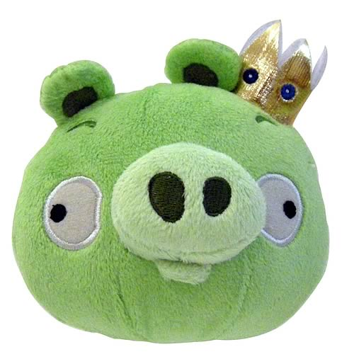 Angry Birds King Pig 16-Inch Plush