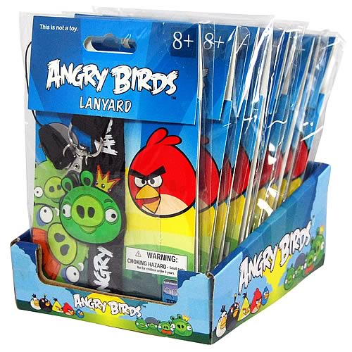 Angry Birds Lanyard Key Chains Case