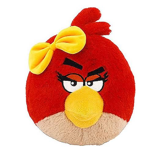 Angry Birds Red Girl 16-Inch Talking Plush