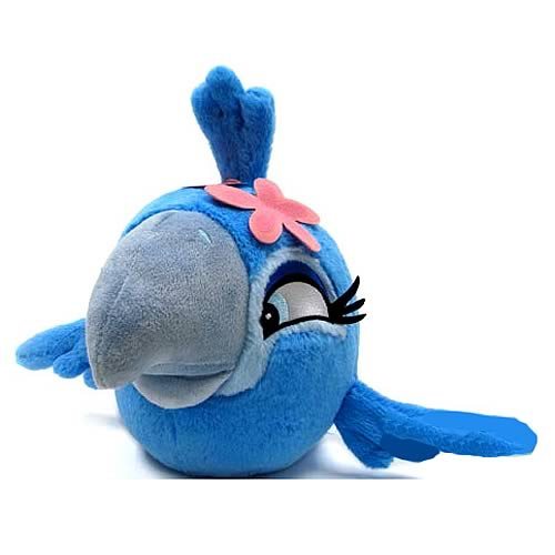 Angry Birds Rio Female Blue Bird Talking 16-Inch Plush