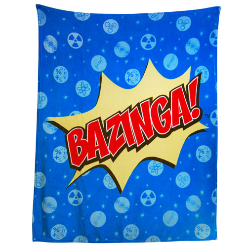 Big Bang Theory Large Blue Bed Throw