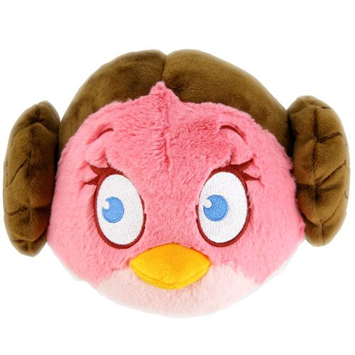 Star Wars Angry Birds Princess Leia 5-Inch Plush