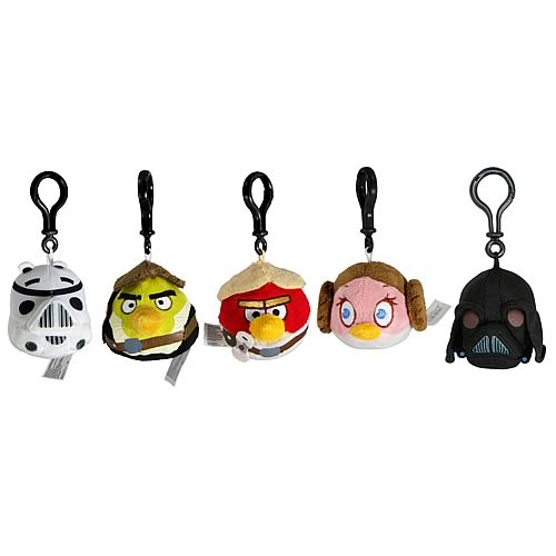 Star Wars Angry Birds Series 1 Backpack Clip Plush Case