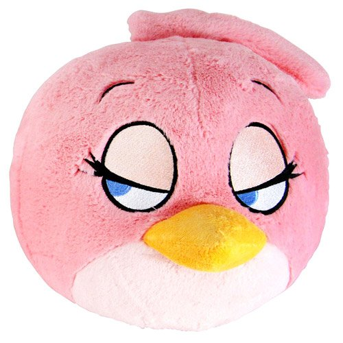 Angry Birds Pink Girl Bird Talking 16-Inch Plush