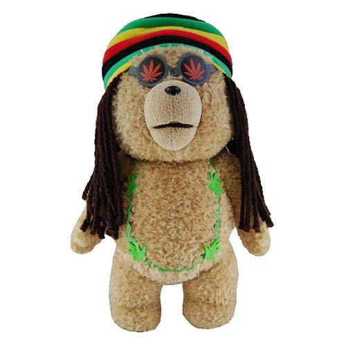 Ted Rastafarian 24-Inch Talking Plush Teddy Bear