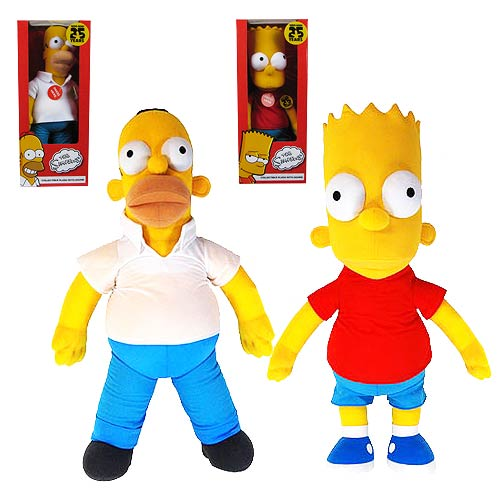 The Simpsons 25th Anniversary Talking 16-Inch Plush Set