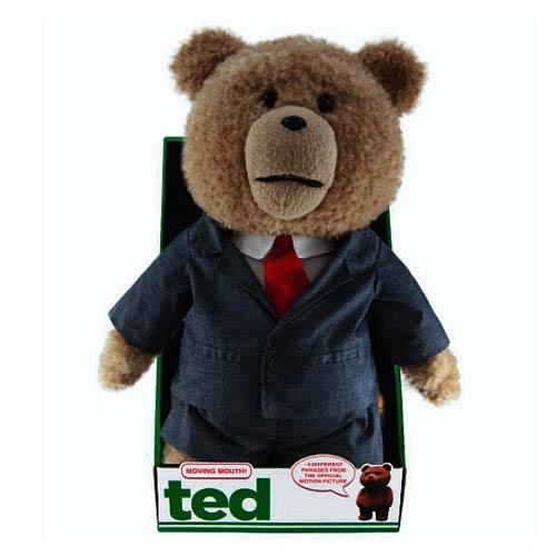 Ted in Suit 16-Inch Talking Plush Teddy Bear