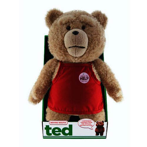 Ted in Apron 16-Inch Talking Plush Teddy Bear