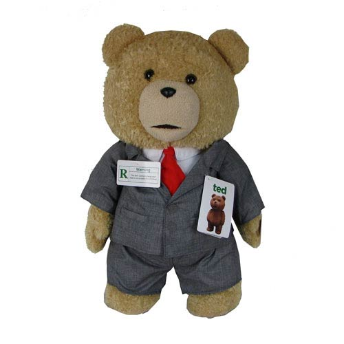 Ted in Suit 24-Inch Talking Plush Teddy Bear