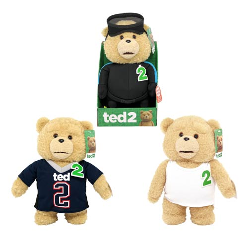 Ted 2 Ted 11-Inch Talking Plush Teddy Bear In Outfits Set
