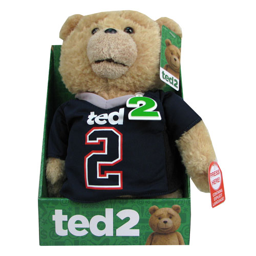 Ted 2 Ted Jersey 11-Inch R-Rated Talking Plush