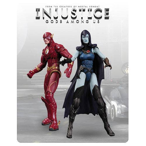 DC Injustice Flash and Raven 3 3/4-Inch Action Figures