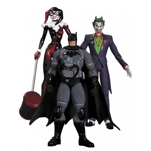 Batman Hush Joker, Harley Quinn & Stealth Batman Figure Set