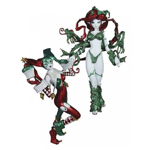 Ame Comi Harley Quinn and Poison Ivy Holiday 2-Pack Statues