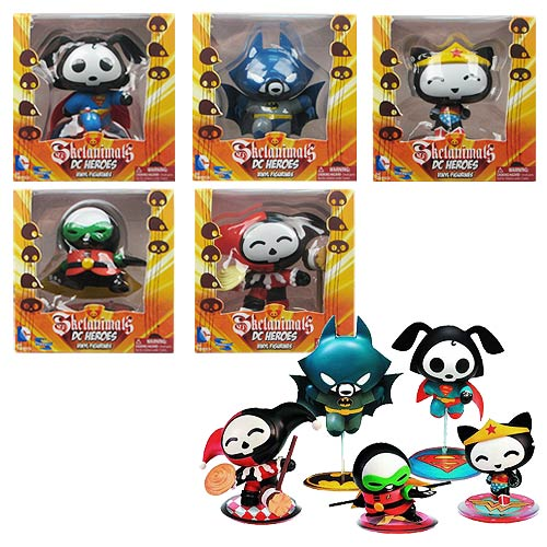 DC Comics Skelanimals Series 1 Mini Vinyl Figure Set