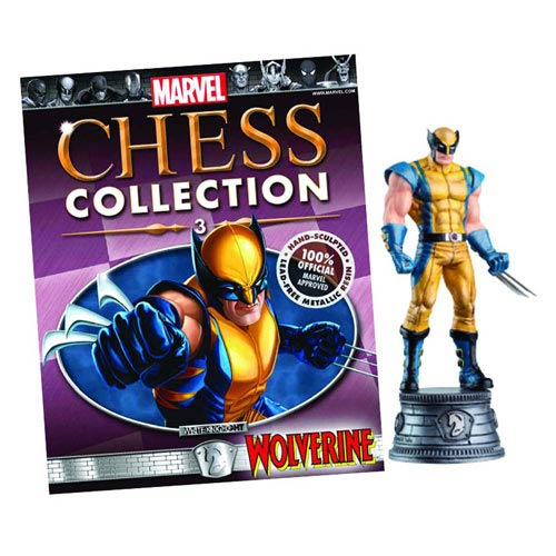 Marvel Wolverine White Knight Chess Piece with Magazine