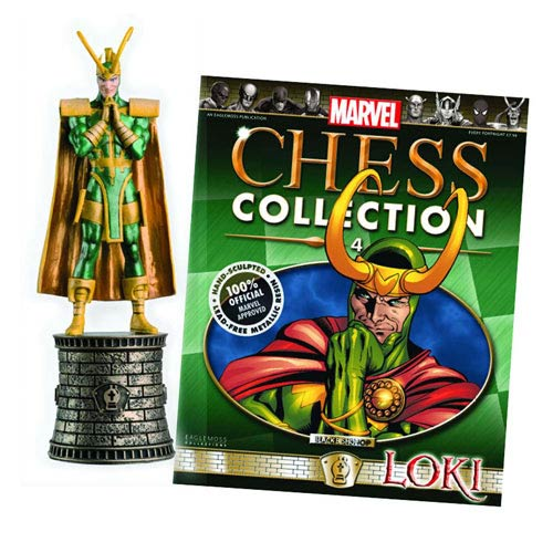 Marvel Loki Black Bishop Chess Piece with Magazine