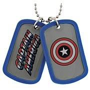 Captain America Double Sided Dog Tag Necklace