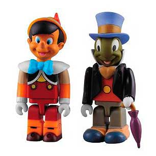 Disney Pinocchio and Jiminy Cricket Kubrick 2-Pack