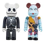Mini-Figures > Nightmare Before Christmas - Jack and Sally as Bearbricks!  Great for  Nightmare Before Christmas  fan!  Detailed and articulated figures of Jack and Sally!  Relive your love of Tim Burtons animated classic  The Nightmare Before Christmas  this winter with a set of Medicoms Bearbricks! Never before released, this 2-pack features Jack Skellington and his true love Sally. Whether you sing along with the haunting tunes every Halloween and Christmas, youre a collector of designer toys, or you just love anamorphic bears, youll want to place this crucial set under your tree this holiday. Limited to 1,500 pieces outside of Asia. Window box packaging.: Sizes