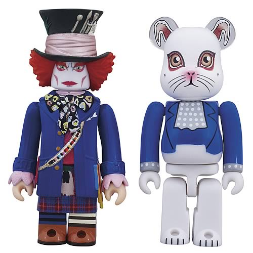 Alice in Wonderland Mad Hatter & White Rabbit Figure 2-Pack