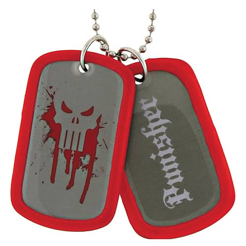 Punisher Double Sided Dog Tag Necklace