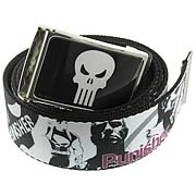 Punisher Mens Graphic Action Skull Belt