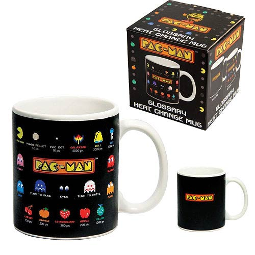 Pac-Man Glossary Heat Change Black Mug
