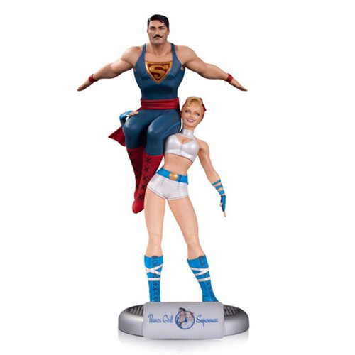 Clark Kent the Strong Man. Power Girl Brings the Power