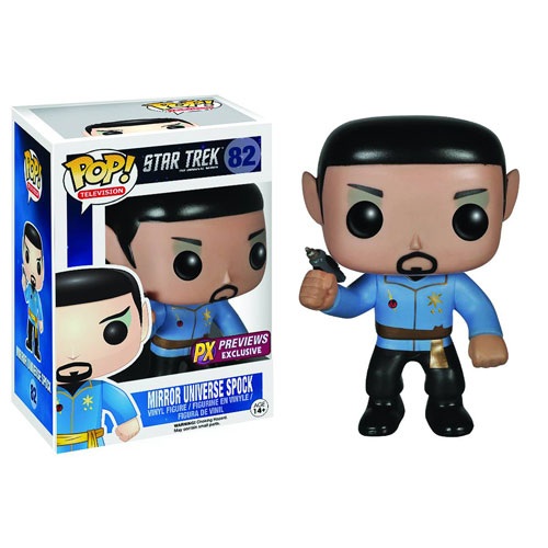 Star Trek Mirror Mirror Spock Pop! Vinyl Figure Previews Ex.