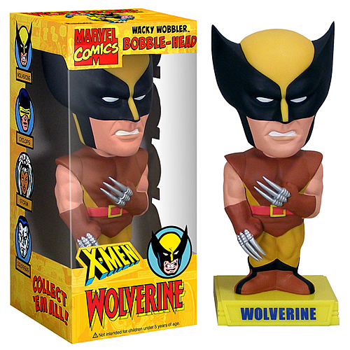 SDCC Exclusive X-Men Brown Wolverine Bobble Head